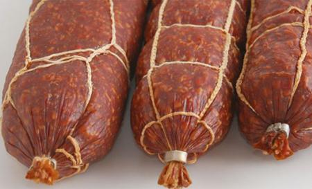 Коллагеновая колбасная оболочка с сеткой